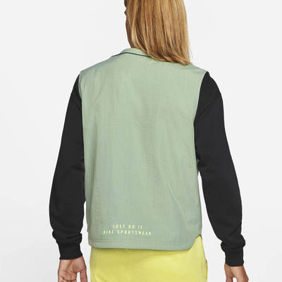 Nike Sportswear DNA Woven Gilet Pine Green Back