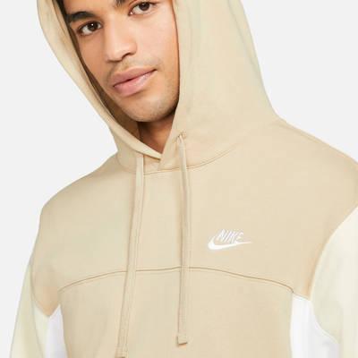 Nike Sportswear Pullover French Terry Hoodie Grain Closeup