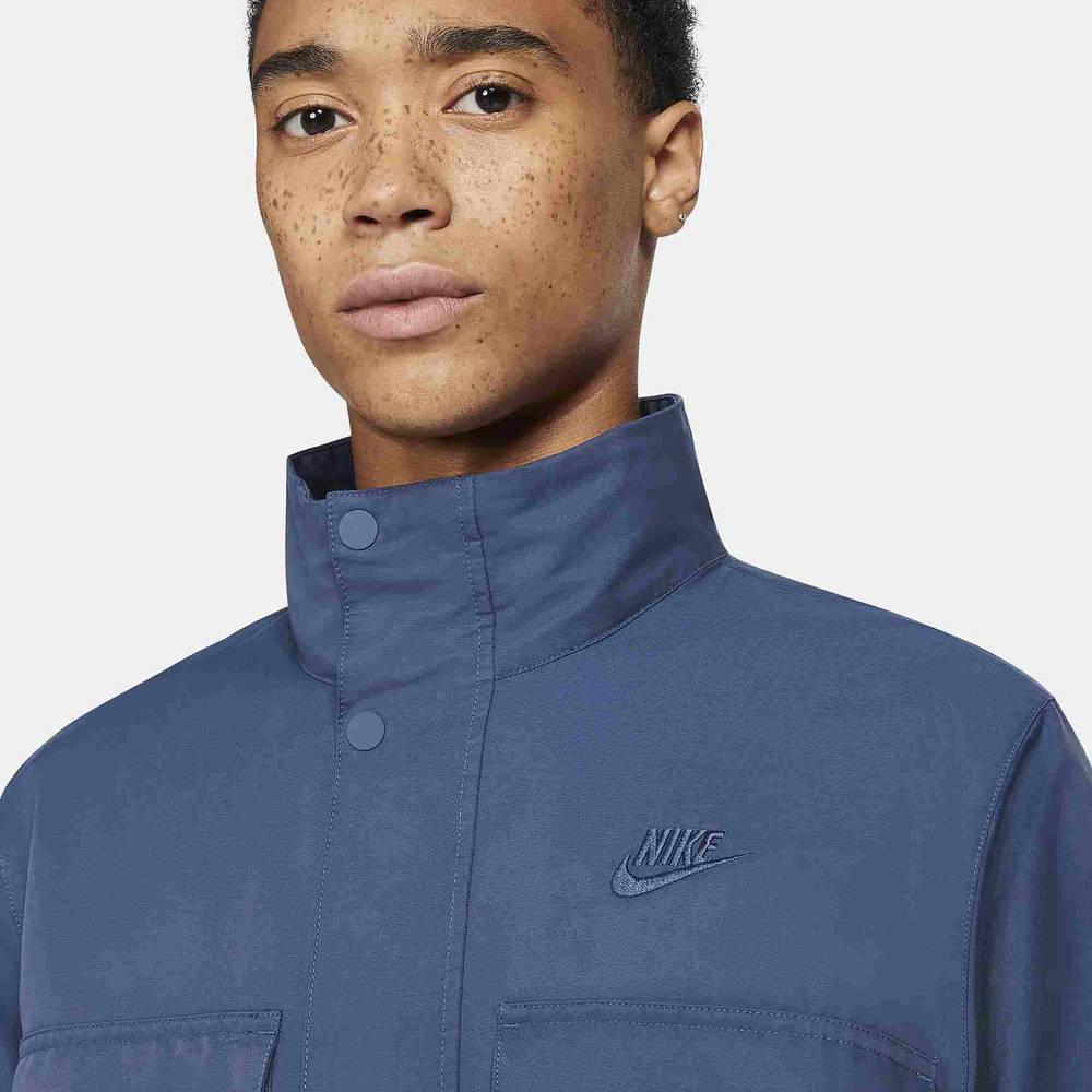 Nike Sportswear Woven M65 Jacket Blue CZ9922-410 Back Front Detail