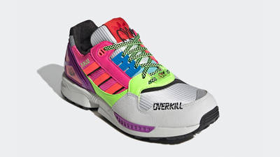 Overkill x adidas ZX 8500 Crystal White Signal Green Front