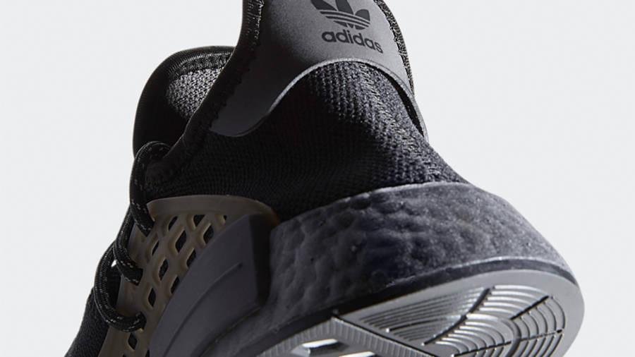Pharrell x adidas NMD Hu Black Future Closeup