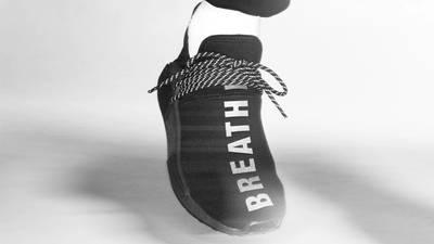 Pharrell x adidas NMD Hu Black Future On Foot