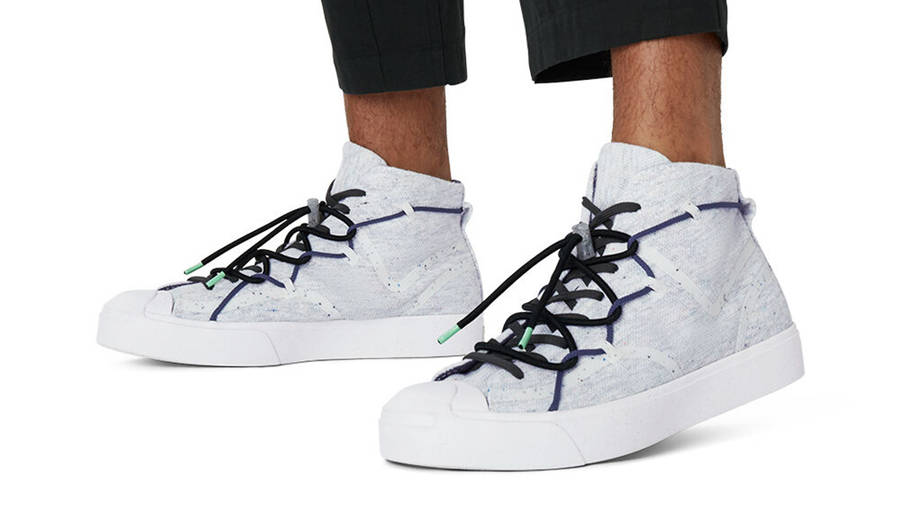 Renew x Converse Jack Purcell Mid White On Foot