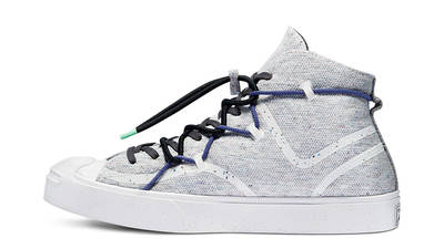 Renew x Converse Jack Purcell Mid White