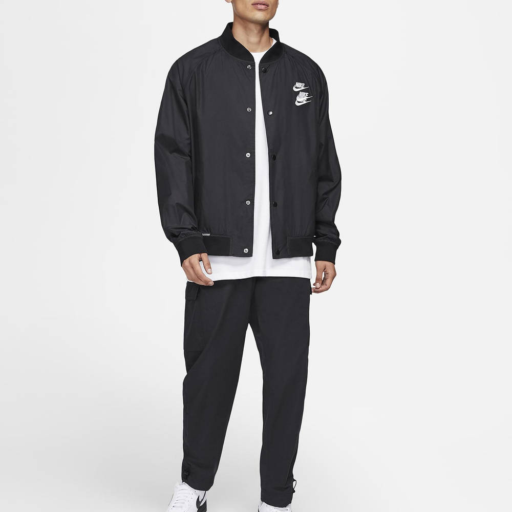 Nike Sportswear Woven Jacket Black DA0647-010 Full