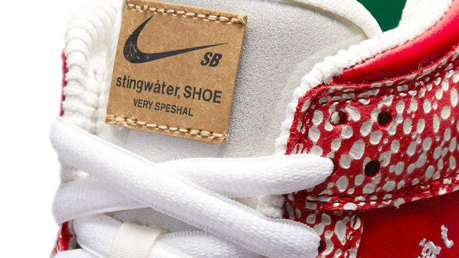 Stingwater x Nike SB Dunk Low Bright Red Tongue