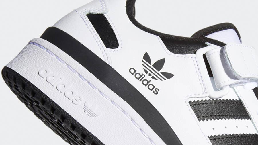 adidas Forum Low Cloud White Black Closeup