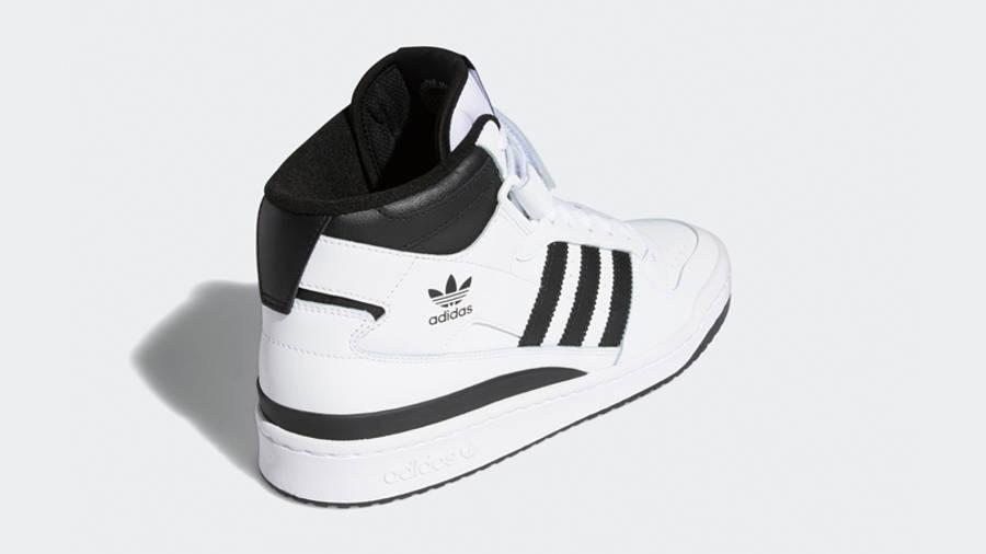 adidas Forum Mid White Black Back