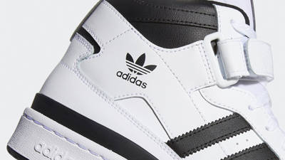 adidas Forum Mid White Black Closeup
