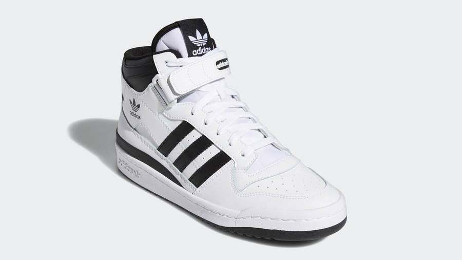 adidas Forum Mid White Black Front