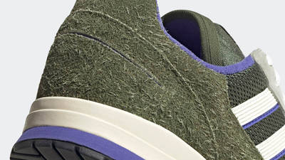 Adidas ZX 420 Halo Green Closeup