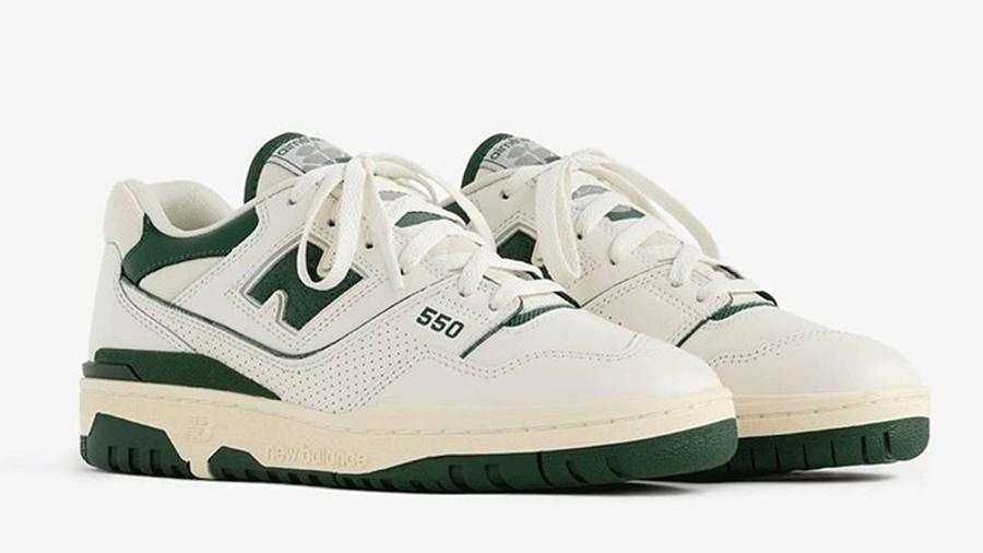 Aime Leon Dore x New Balance 550 White Green front