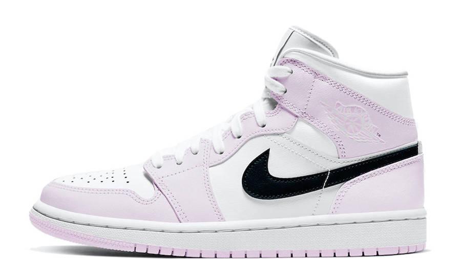 Air Jordan 1 Mid Barely Rose Womens BQ6472-500