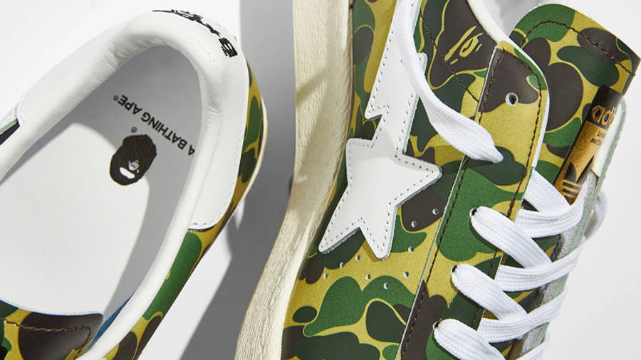 BAPE x adidas Superstar ABC Camo Closeup