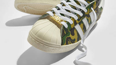 BAPE x adidas Superstar ABC Camo Front Closeup