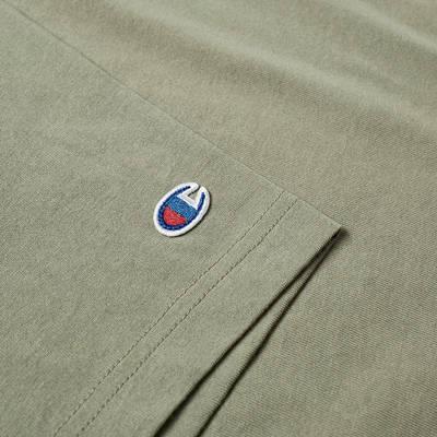 Champion Reverse Weave Classic Crew Neck T-Shirt Stone Detail 2