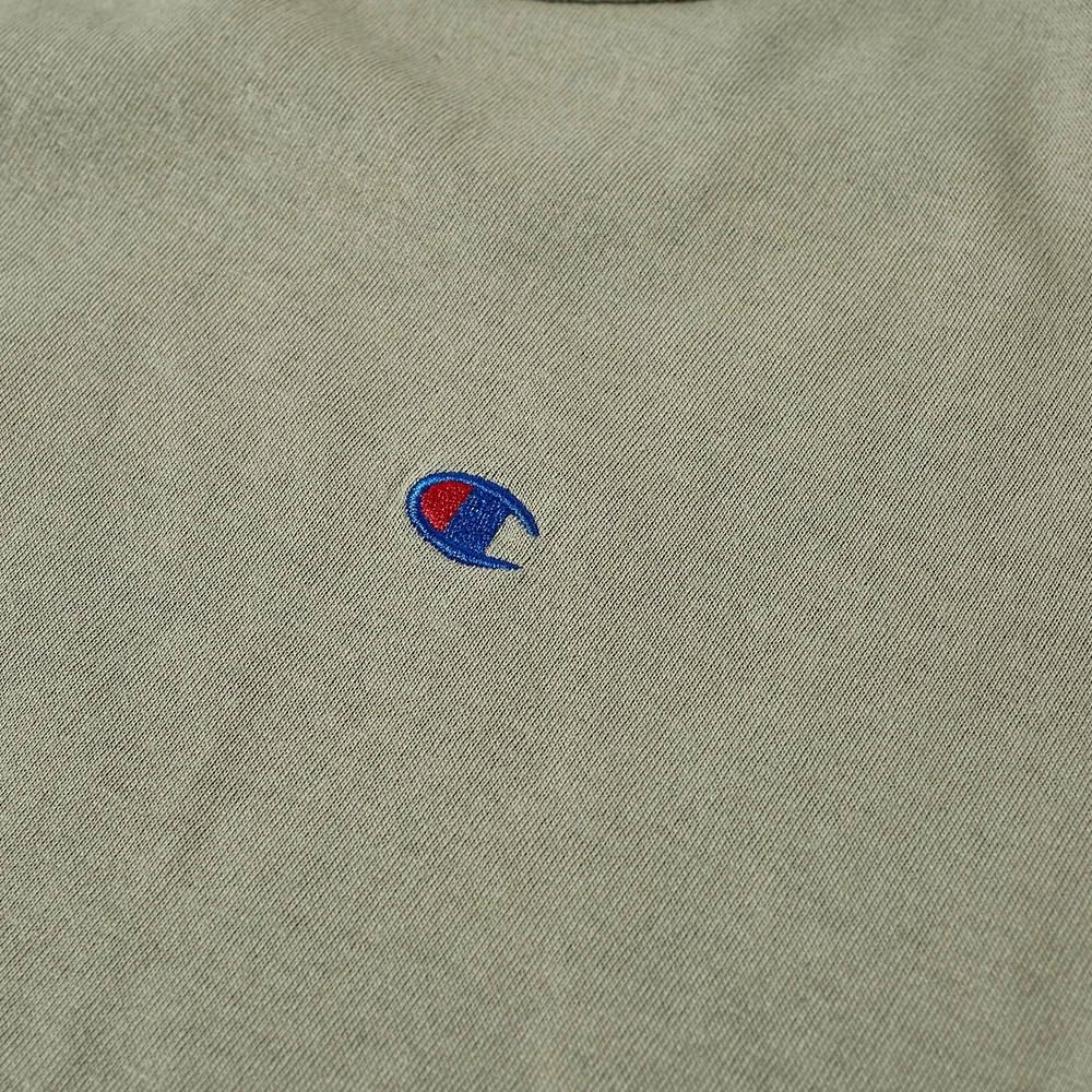 Champion Reverse Weave Classic Crew Neck T-Shirt Stone Detail