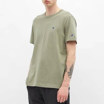Champion Reverse Weave Classic Crew Neck T-Shirt Stone Front