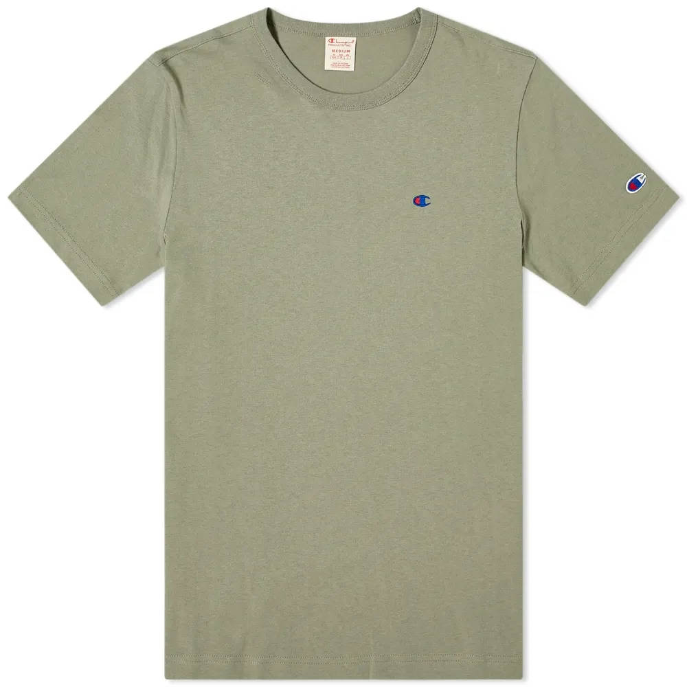Champion Reverse Weave Classic Crew Neck T-Shirt Stone