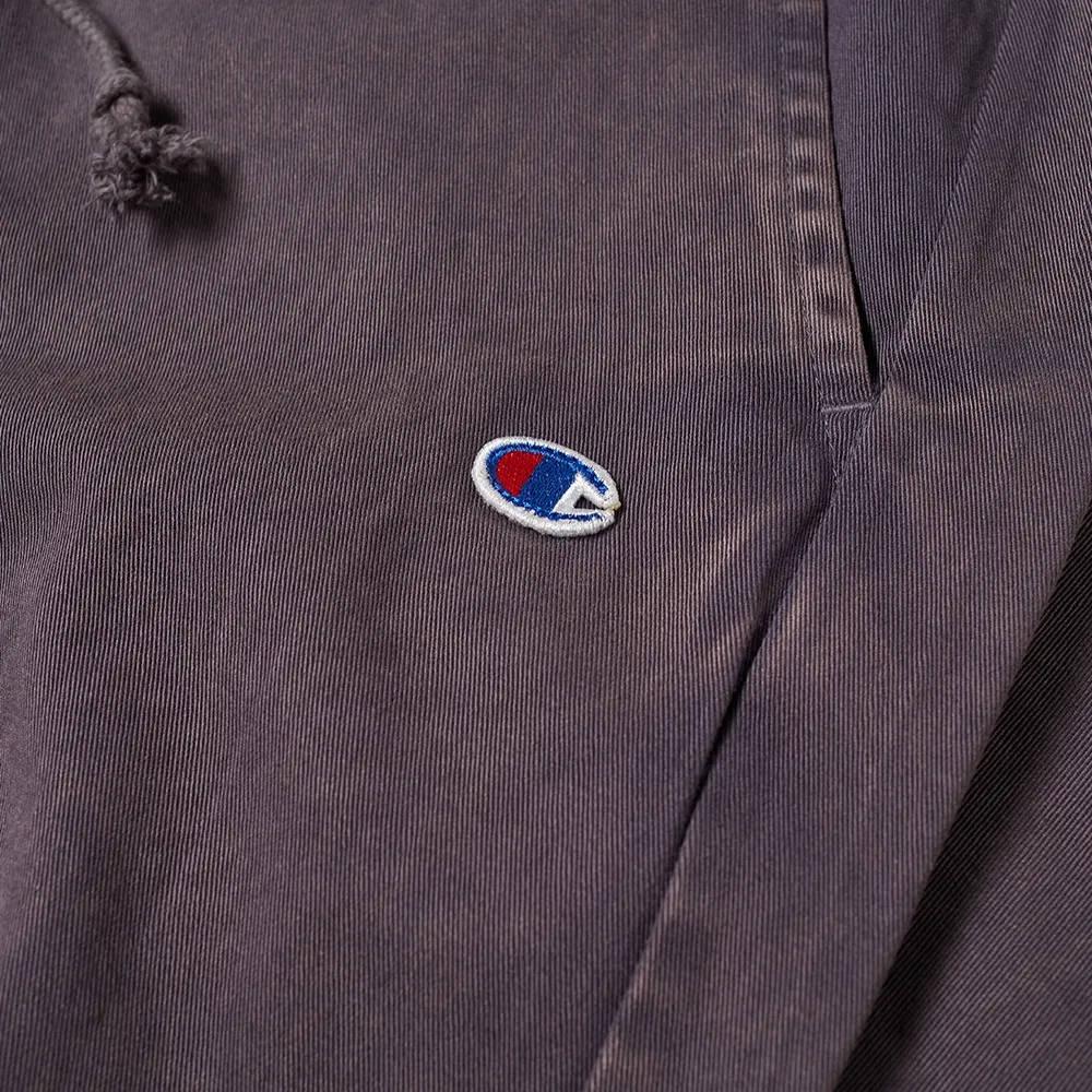 Champion Reverse Weave Garment Dyed Twill Pant Dark Indigo Detail