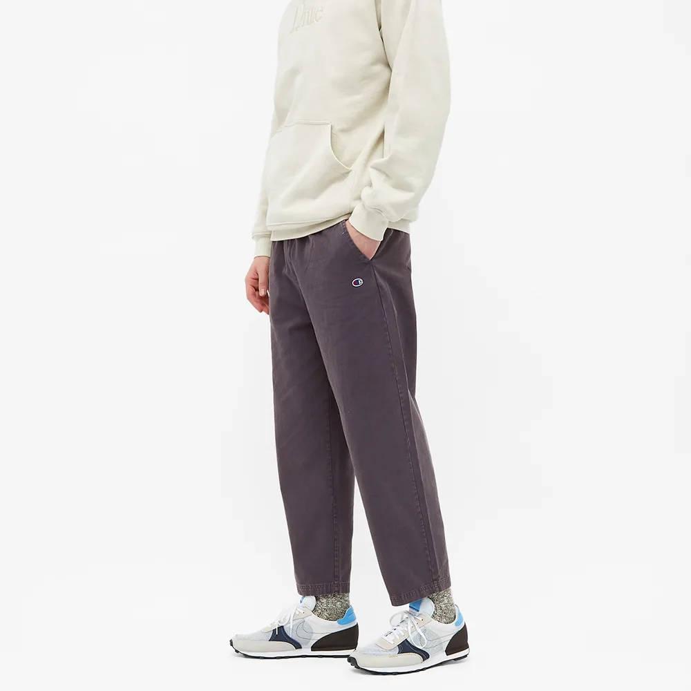 Champion Reverse Weave Garment Dyed Twill Pant Dark Indigo Front