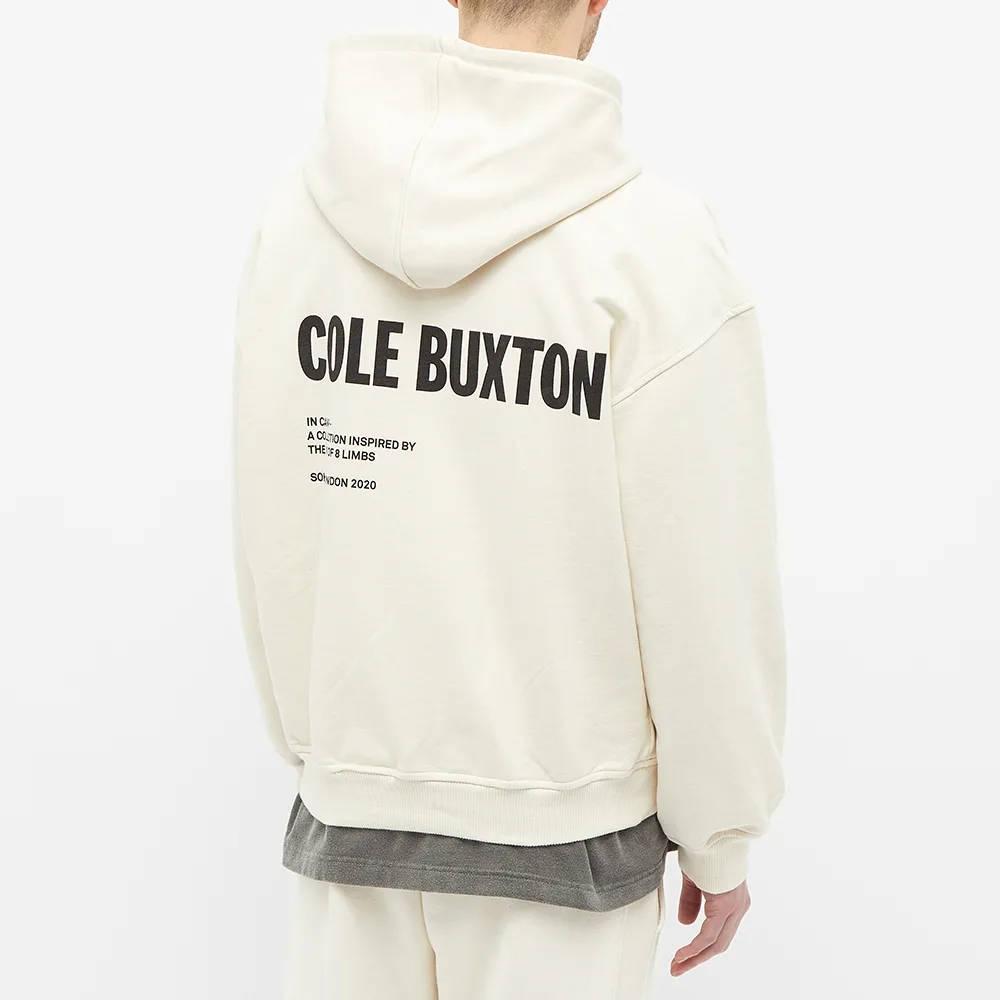 Cole Buxton CB Logo Warm Up Hoody Natural Back