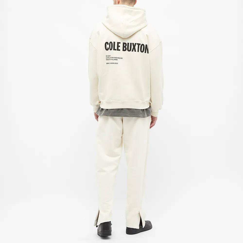 Cole Buxton CB Logo Warm Up Hoody Natural Full