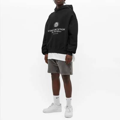Cole Buxton Crest Logo Hoody Black Full