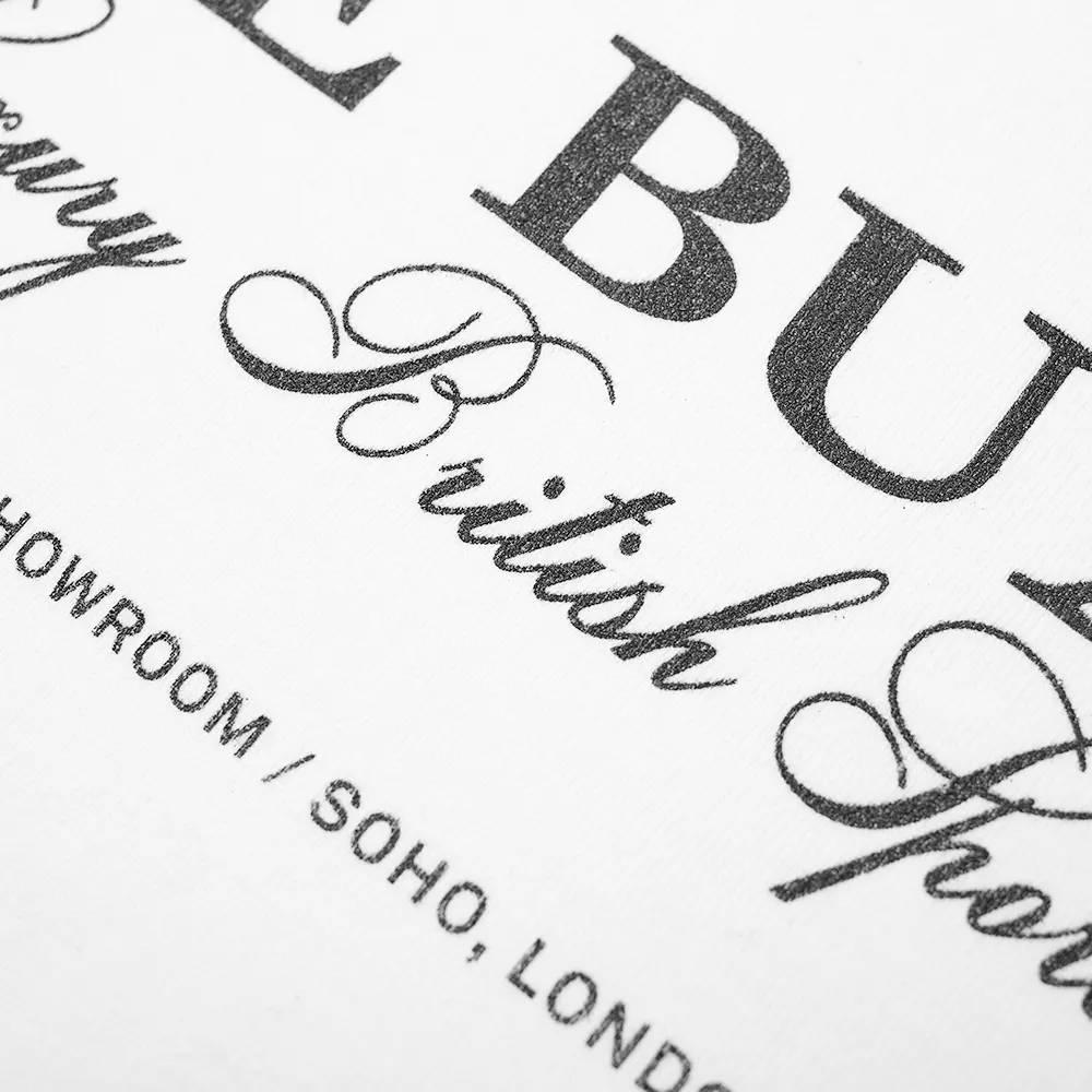 Cole Buxton Crest Logo Tee White Detail
