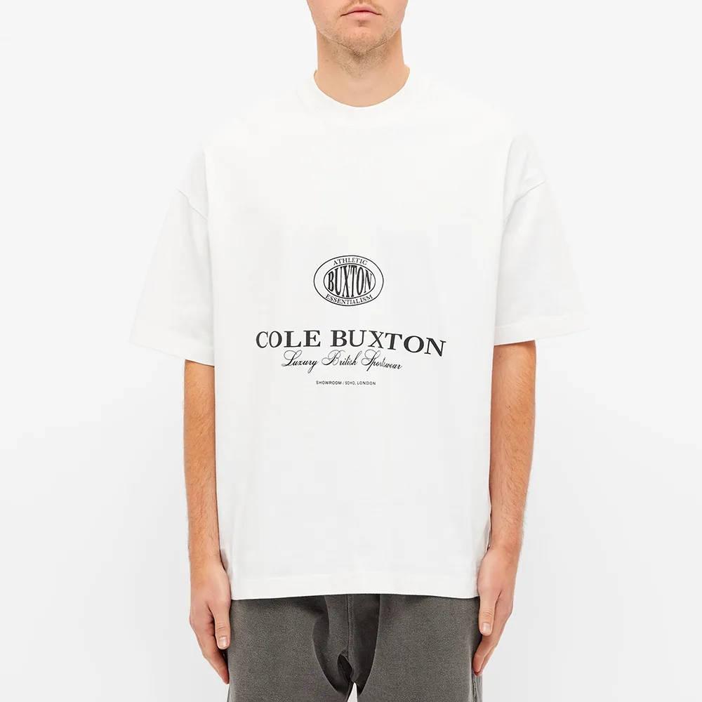 Cole Buxton Crest Logo Tee White