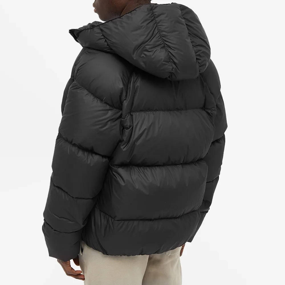 Cole Buxton Insulated Down Jacket Satin Black Back