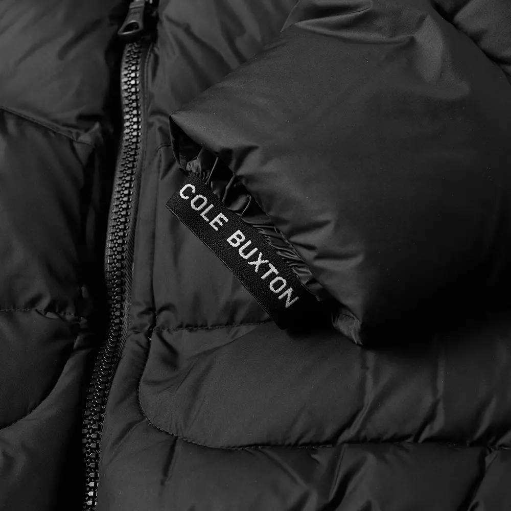 Cole Buxton Insulated Down Jacket Satin Black Detail 2