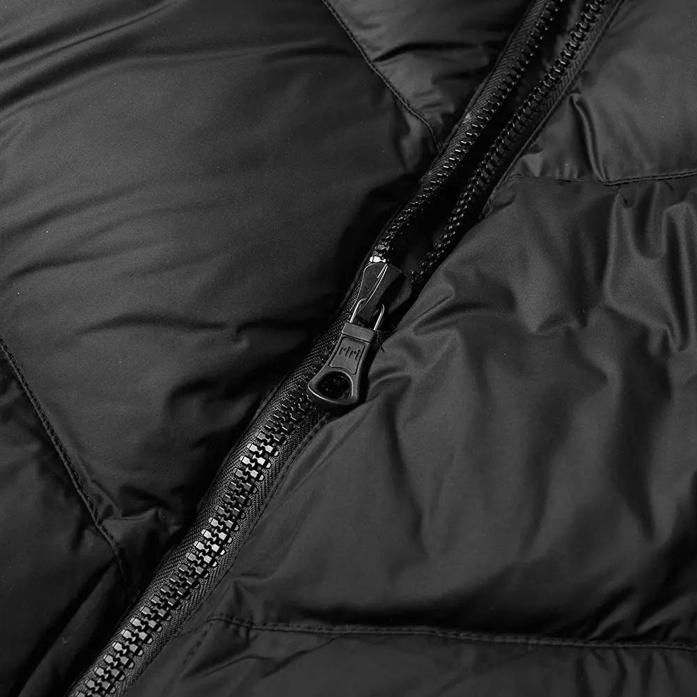 Cole Buxton Insulated Down Jacket Satin Black Detail 3