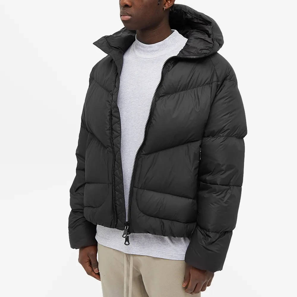 Cole Buxton Insulated Down Jacket Satin Black Front