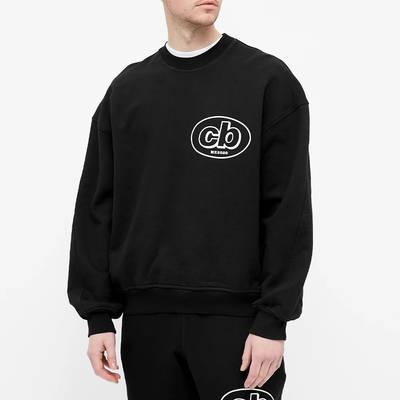 Cole Buxton MX Logo Crew Sweatshirt Black Front
