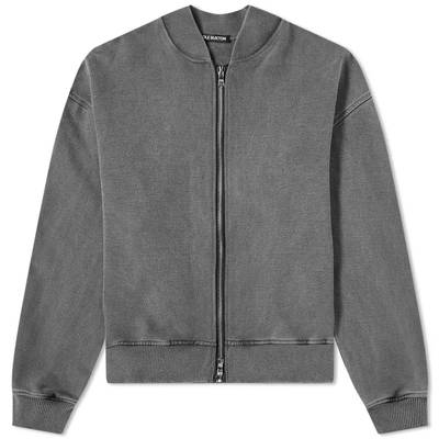Cole Buxton Zipped Bomber Jacket Washed Black