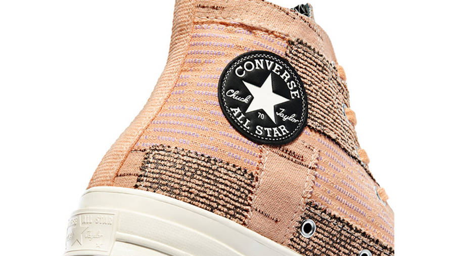 Converse Chuck 70 Patchwork High Peach Closeup