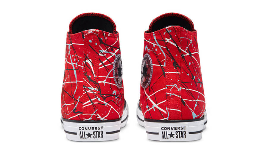 Converse Chuck Taylor All Star Archive Paint Splatter Hi Red Back