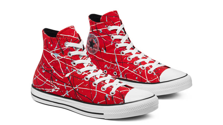 Converse Chuck Taylor All Star Archive Paint Splatter Hi Red Front