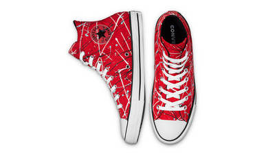 Converse Chuck Taylor All Star Archive Paint Splatter Hi Red Middle