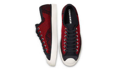 Converse Jack Purcell Rally Patchwork Low Black Tomato Puree Middle
