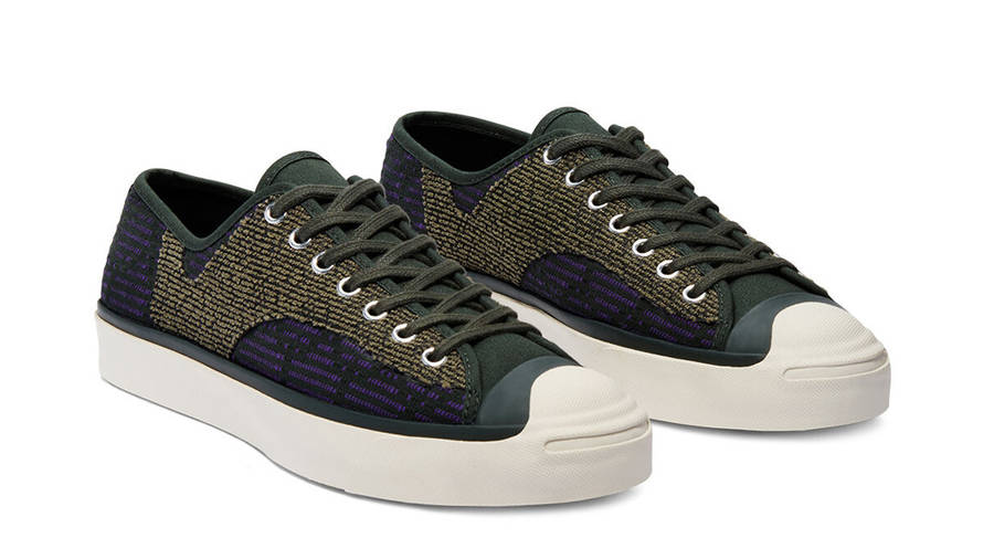 Converse Jack Purcell Rally Patchwork Low Deep Lichen Green Front