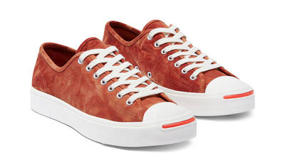 Converse Jack Purcell Summer Daze Low Red Bark Front