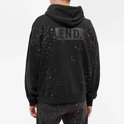 END. x Levis Painted Graphic Hoody Black Paint Splatter Back
