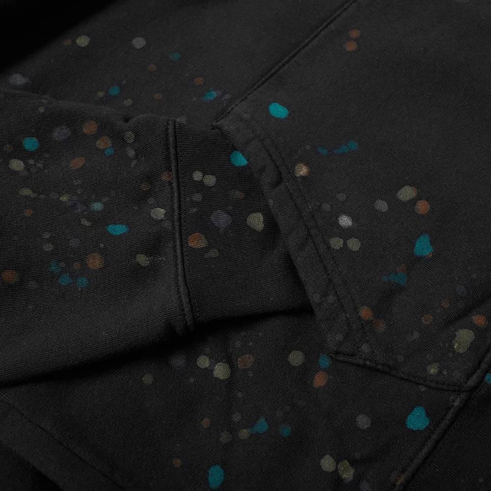 END. x Levis Painted Graphic Hoody Black Paint Splatter Detail 2