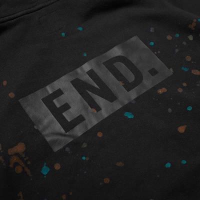 END. x Levis Painted Graphic Hoody Black Paint Splatter Detail 3