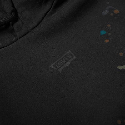 END. x Levis Painted Graphic Hoody Black Paint Splatter Detail