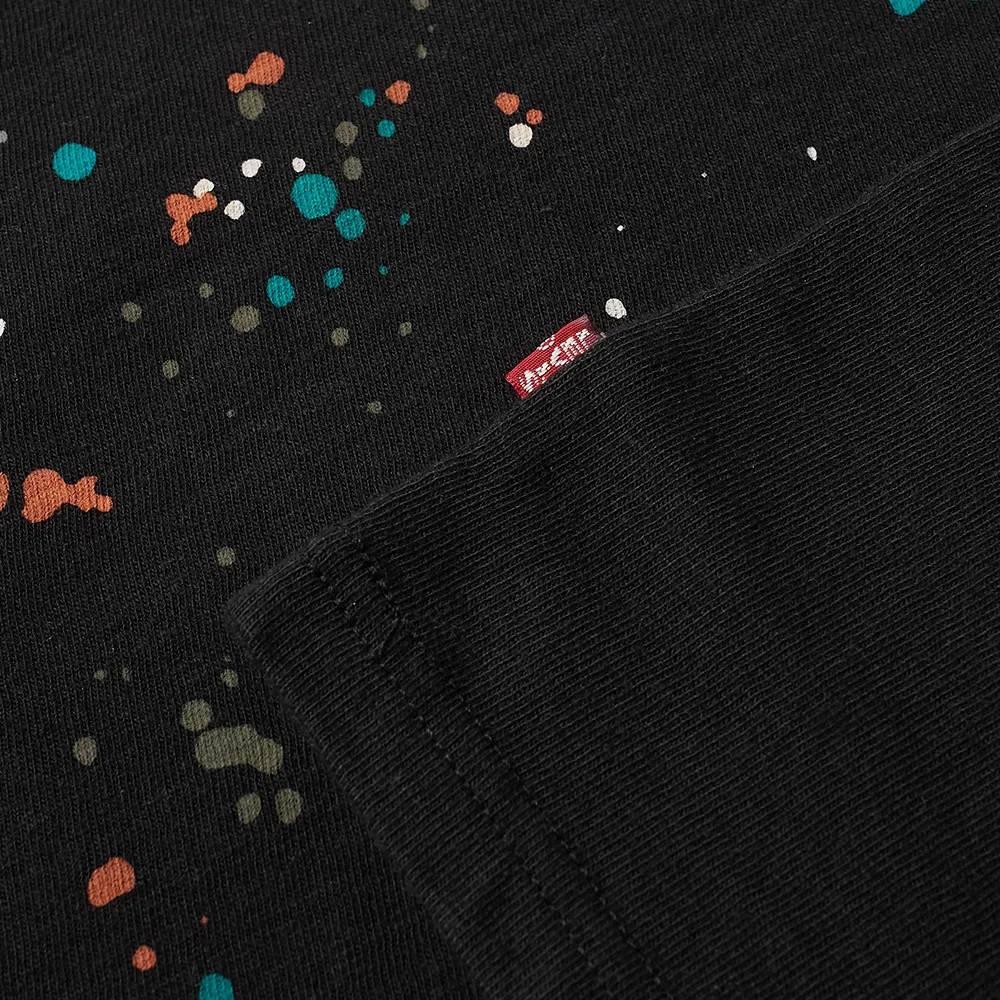END x Levi's Painted Logo T-Shirt Tonal Black Detail 2