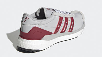 Human Made x adidas Country Grey Collegiate Burgundy Back