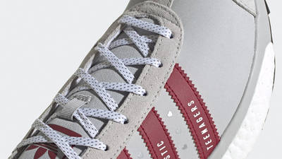 Human Made x adidas Country Grey Collegiate Burgundy Closeup